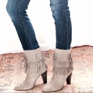 🆕Listing! Joie suede fringe booties